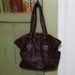 B. Makowsky Dark Brown Leather Purse